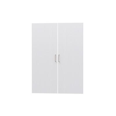 タナリオ TNL-1287専用扉 取付部品付き 扉高さ115.1cm 両開き左右セット ホワイト 白木目 受注生産 [TNL-EMD1287 WH]